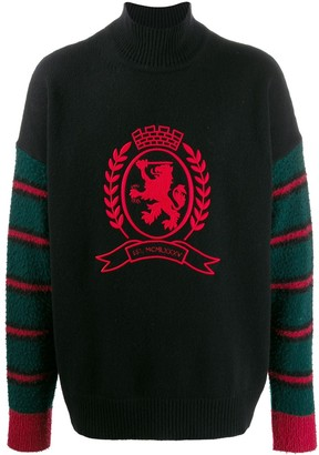 Tommy Hilfiger embroidered lion jumper