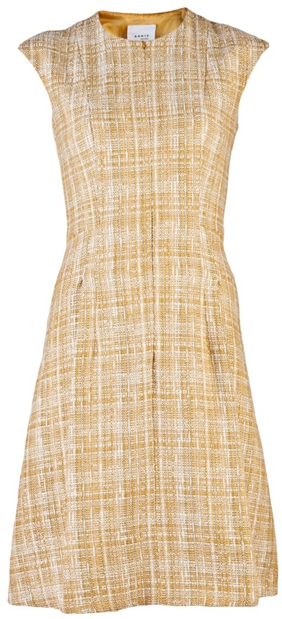 Akris Punto tweed cap sleeve dress