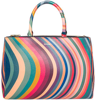Paul Smith Leather Swirl Top Handle Tote Bag, Multi