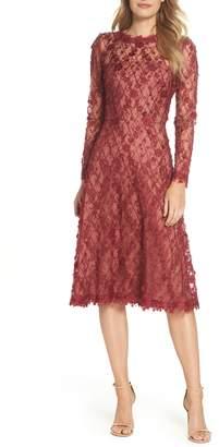 Tadashi Shoji 3D Flowers Lace Dress
