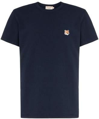 MAISON KITSUNÉ fox patch cotton T-shirt