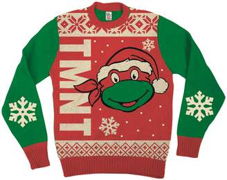 Teenage Mutant Ninja Turtles Big Turtle Face Ugly Christmas Sweater (Adult)