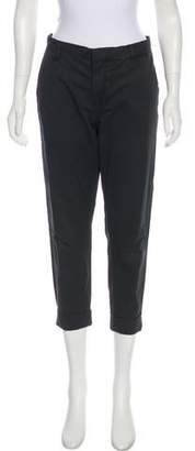 J Brand Mid-Rise Straight-Leg Cropped Pants