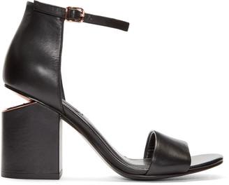 Alexander Wang Black Abby Sandals $475 thestylecure.com