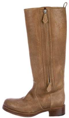 Hermes Suede Riding Boots
