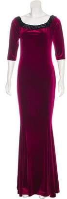 Norma Kamali Velvet Evening Dress