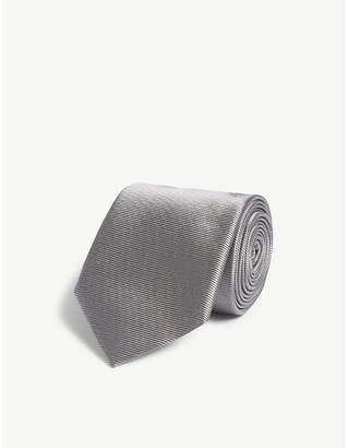 Salvatore Ferragamo Solid twill silk tie