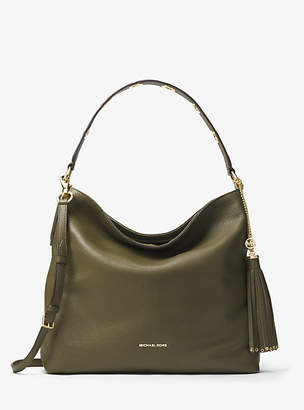 At Michael Kors Brooklyn Large Leather Shoulder Bag