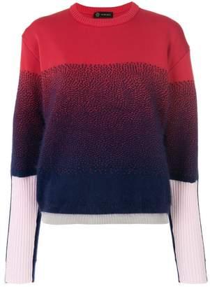 Versace ribbed sleeve jumper