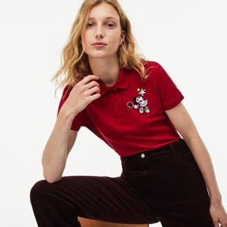 Lacoste (ラコステ) - 『Lacoste x Disney』 ミニー 刺繍 コットンピケポロ