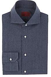 Isaia Men's Cotton Chambray Dress Shirt - Dk. Blue