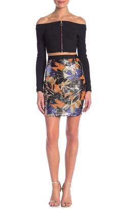 Wow Couture Sequin Embroidered Skirt