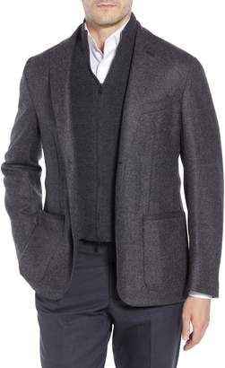 Corneliani Classic Fit Stretch Tweed Wool Blend Sport Coat