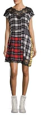 Marc Jacobs Silk Patchwork Plaid Dress