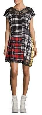 Marc Jacobs Silk Patchwork Plaid Dress