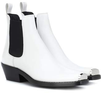 Calvin Klein Claire leather ankle boots