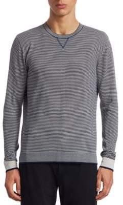 Saks Fifth Avenue MODERN Striped Modern-Fit Cotton Sweater
