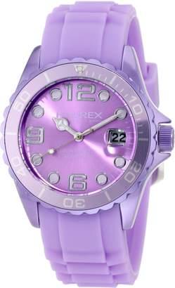 Haurex Italy Women's Ink Lilac Rubber Band Aluminum Watch 1K374DLL