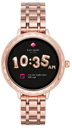 Kate Spade Touchscreen Rosegold Stainless Steel Bracelet Smartwatch