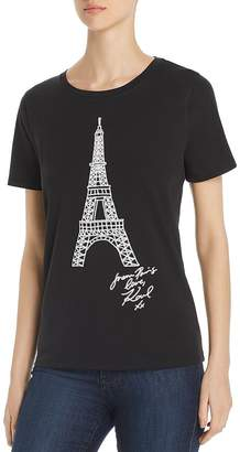 Karl Lagerfeld Paris Eiffel Tower Graphic Tee