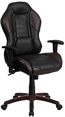 Camilla And Marc Flash Furniture High Back Executive Gaming-Racing Swivel Chair with Comfort Coil Seat Springs and Brown Base, Metal, Marrone Eklipsis Brown, 73.03 x 59.69 x 36.83 cm