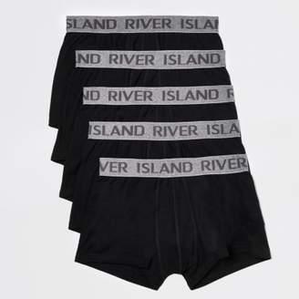 River Island Black RI hipster boxers multipack