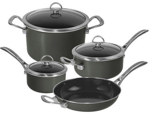 Chantal Copper Fusion Cookware Set, 7 Pieces