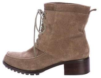 Elizabeth and James Suede Lace-Up Ankle Boots