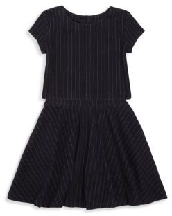 Ralph Lauren Toddler's, Little Girl's & Girl's Pinstriped Cotton Top & Skirt Set $89.50 thestylecure.com