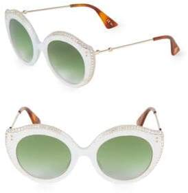 Gucci Embellished 52MM Butterfly Sunglasses