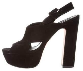 Alice + Olivia Suede High-Heel Sandals