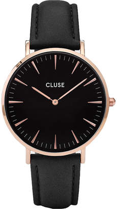 Cluse CL18001 La Bohme leather and stainless steel watch
