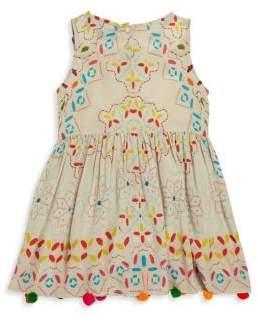 Hemant & Nandita Toddler's, Little Girl's & Girl's Multi Pom Dress 2