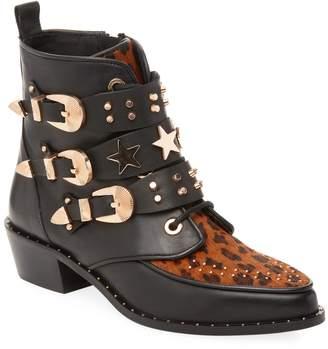 Ivy Kirzhner Women's Steampunk Studded Ankle Boot