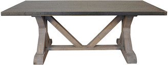 Noir X-Base Dining Table - Vintage Gray