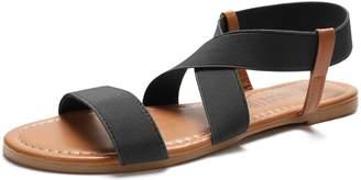 Sandalup Women's Elastic Flat Sandals 07