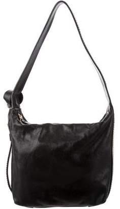 Lanvin Leather Chain-Link Accented Shoulder Bag
