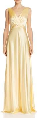 Jill Stuart Bow-Back Satin Gown