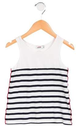 Junior Gaultier Girls' Striped Sleeveless Top