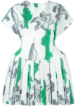 Julien David floral print pleated skater dress