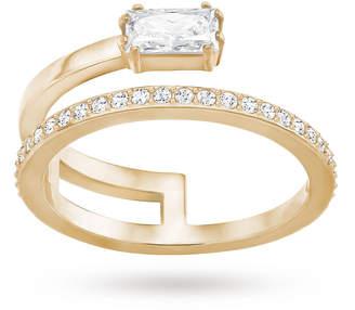 Swarovski Grey Rose Gold Ring - Ring Size P.5