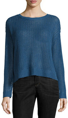 Eileen Fisher Fisherman's Knit Top $168 thestylecure.com