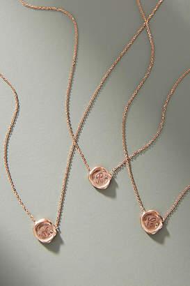 Sirciam 14K Rose Gold Monogram Necklace
