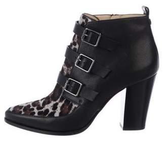 Jimmy Choo Ponyhair Buckle Ankle Boots Black Ponyhair Buckle Ankle Boots