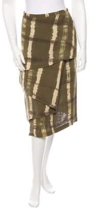 Michael Kors Linen Tie-Dye Skirt