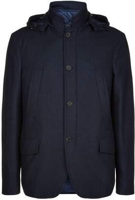 Canali Detachable Gilet Hooded Coat