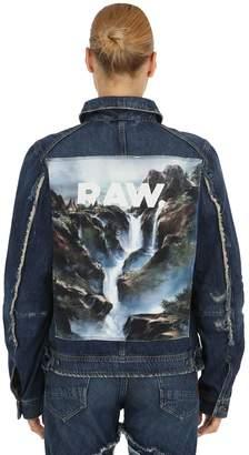 D-Staq Printed Denim Jacket