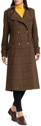 Lauren Ralph Lauren Plaid Wool Blend Coat