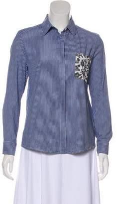 Thakoon Stripe Button-Up Top