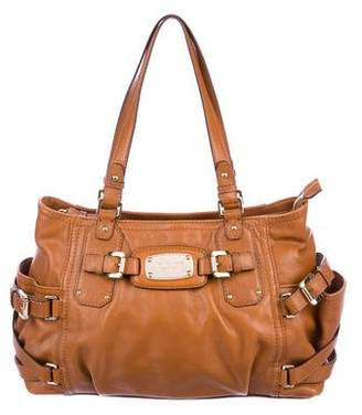 MICHAEL Michael Kors Leather Buckle Tote